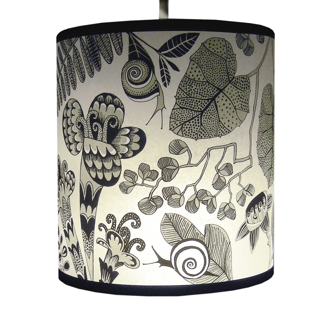 Lampshade Grey Snails Small