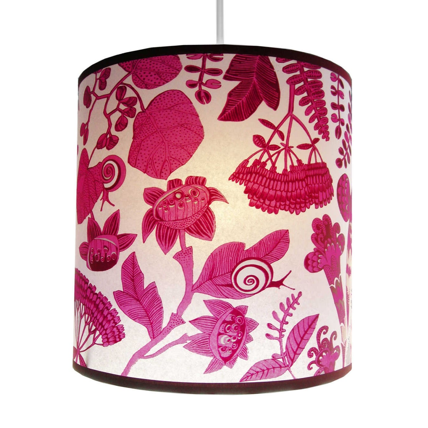 Lampshade Pink Snails Small