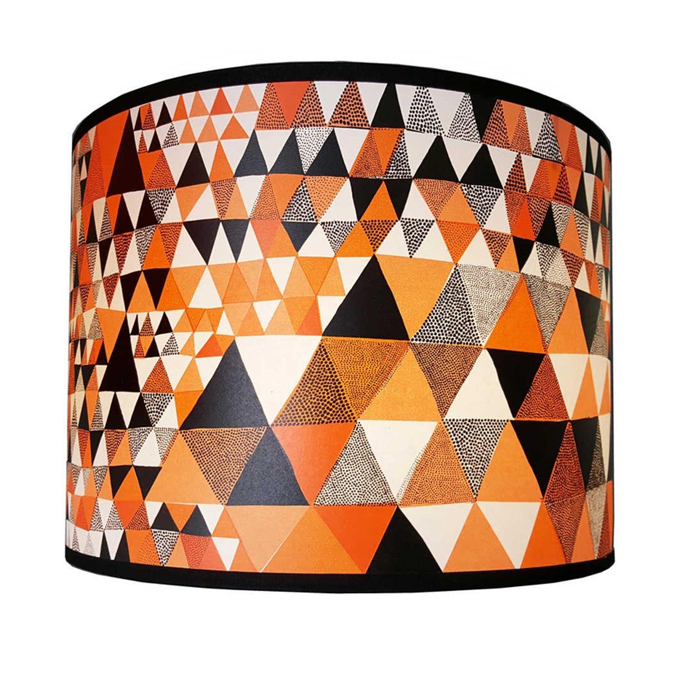 Lampshade Orange Triangles