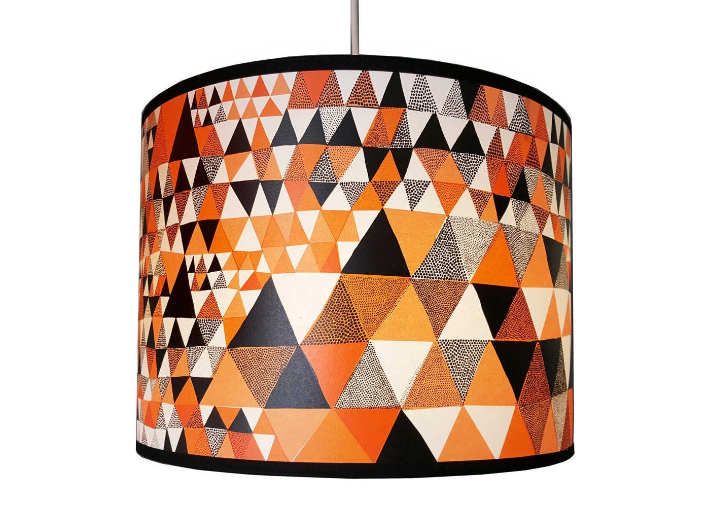Lampshade Orange Triangles Large
