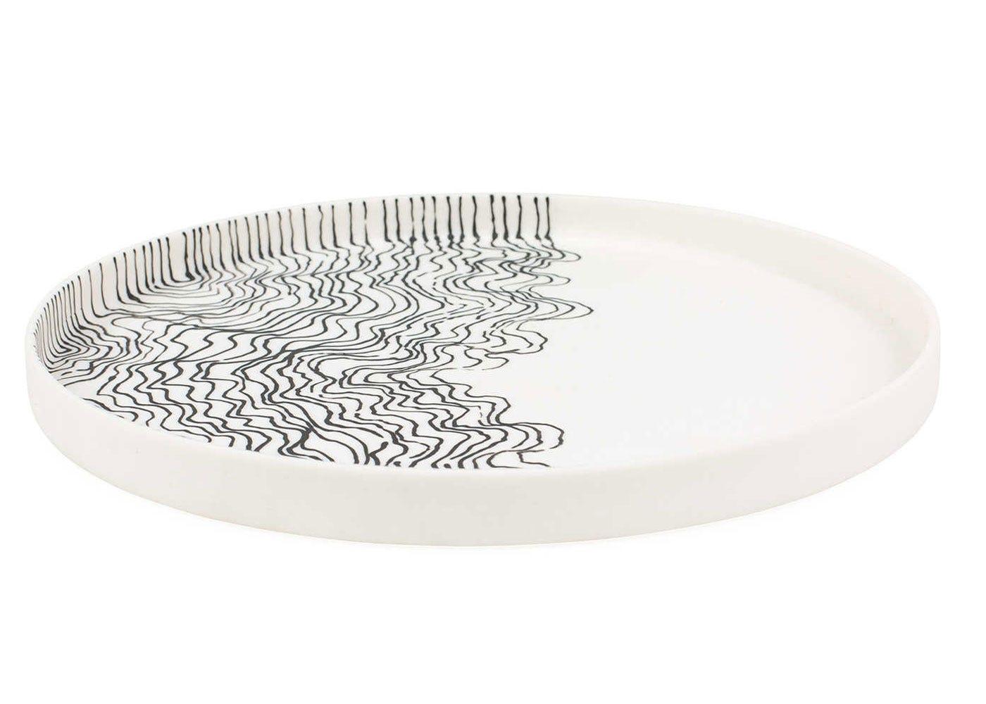 Estuarine plate white medium side view