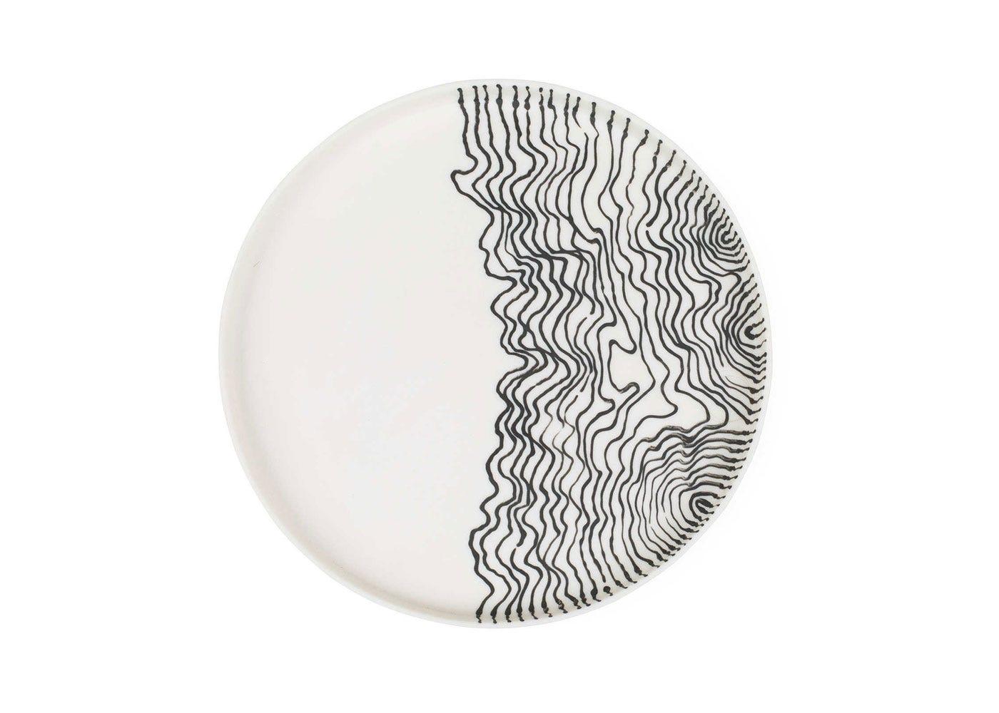 Estuarine plate white small front view