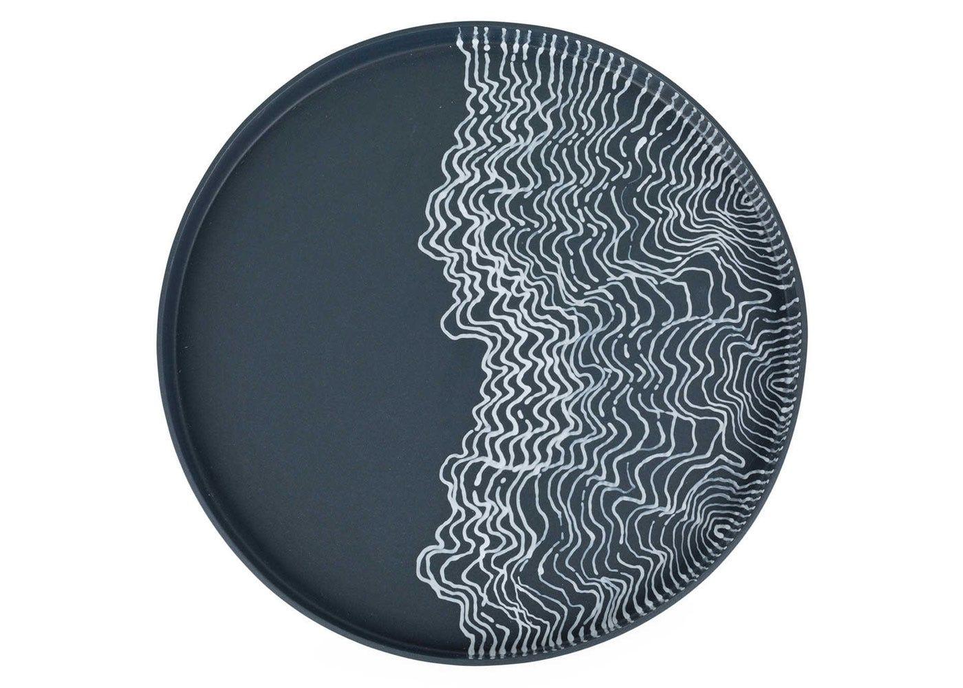 Estuarine plate black medium front view