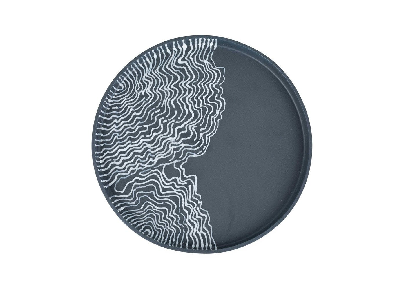 Estuarine plate black small front view