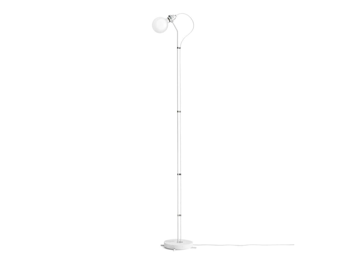 Five floor lamp white marble base