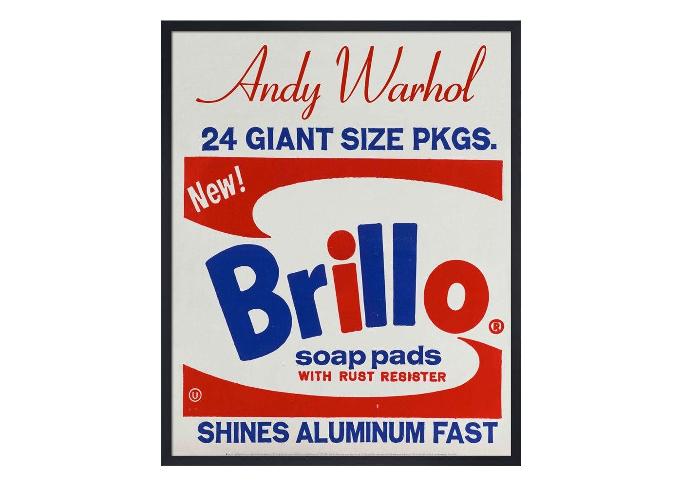 KING & MCGAW Andy Warhol Brillo Box 1964 Framed Print   HEAL\'S