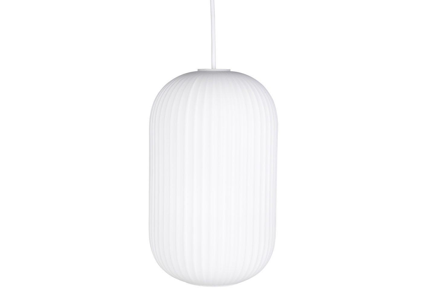 Opal Lantern Pendant Light Tall White - Off.