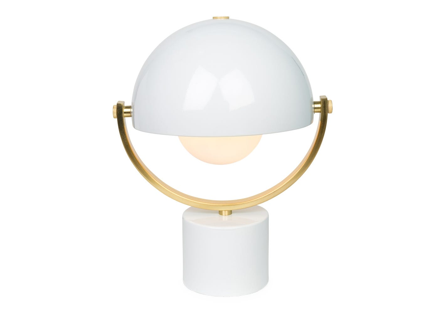 Spin in  white and satin brass - light on