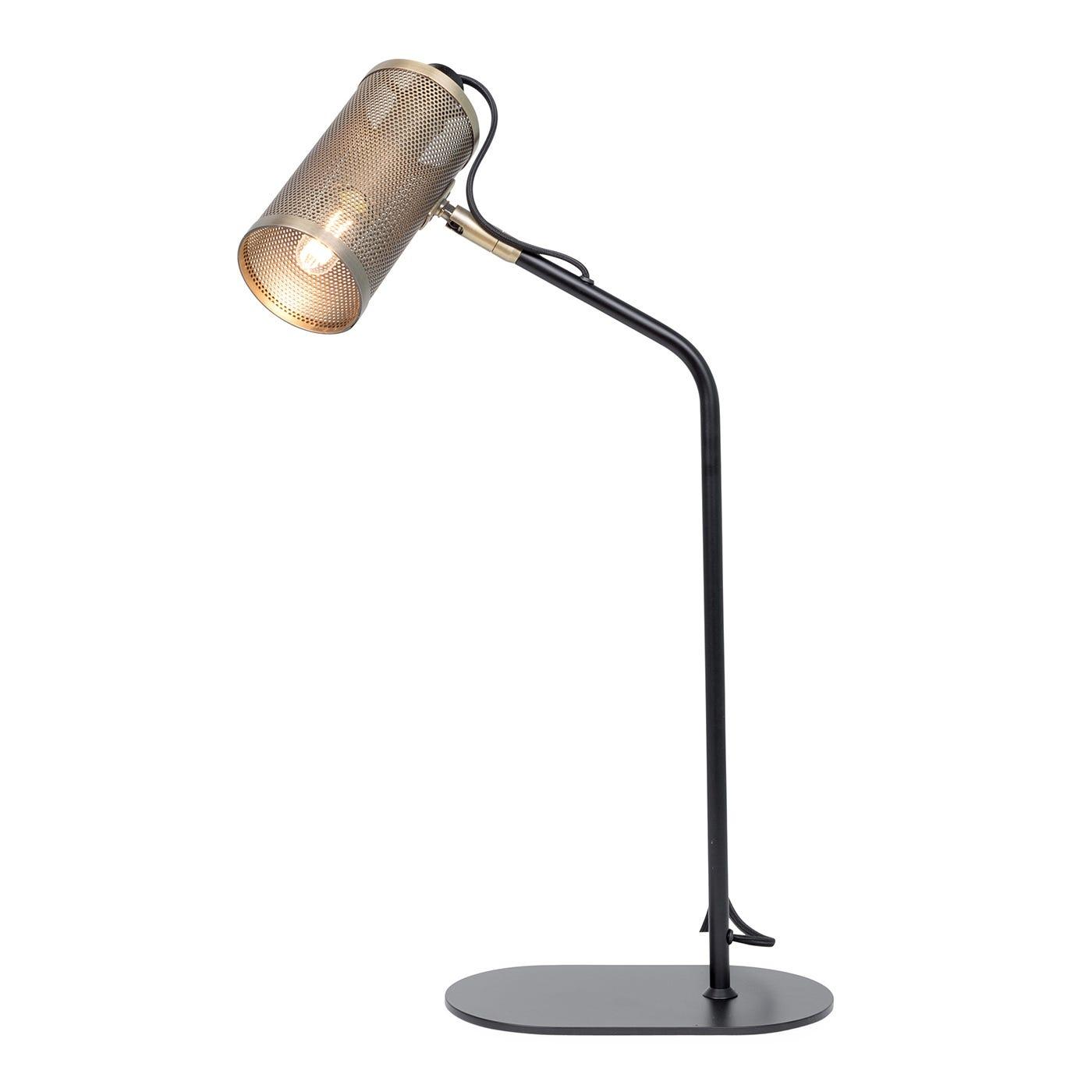 Carter Task Lamp Brushed Antique Brass