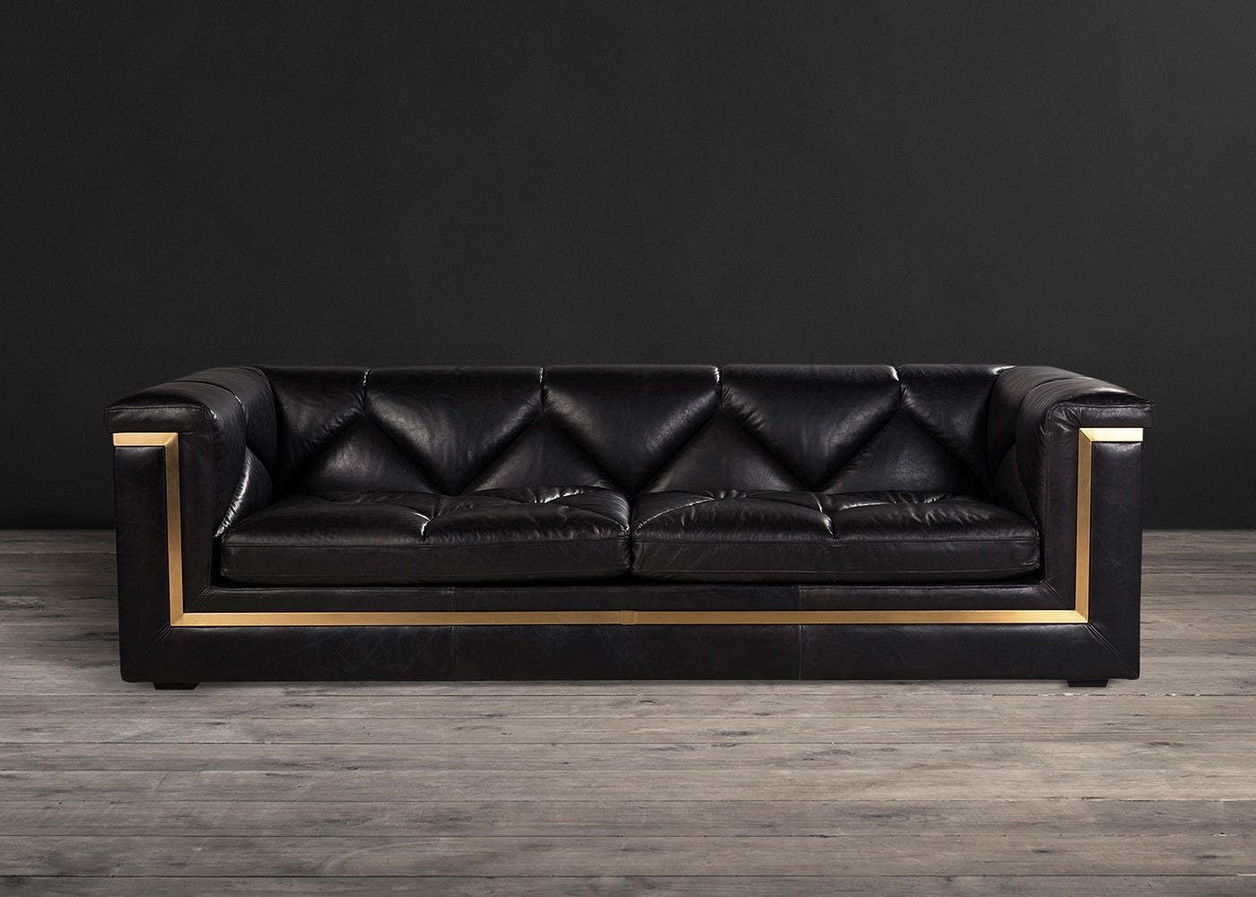 Gatsby 3 Seater Sofa Old Saddle Black Leather