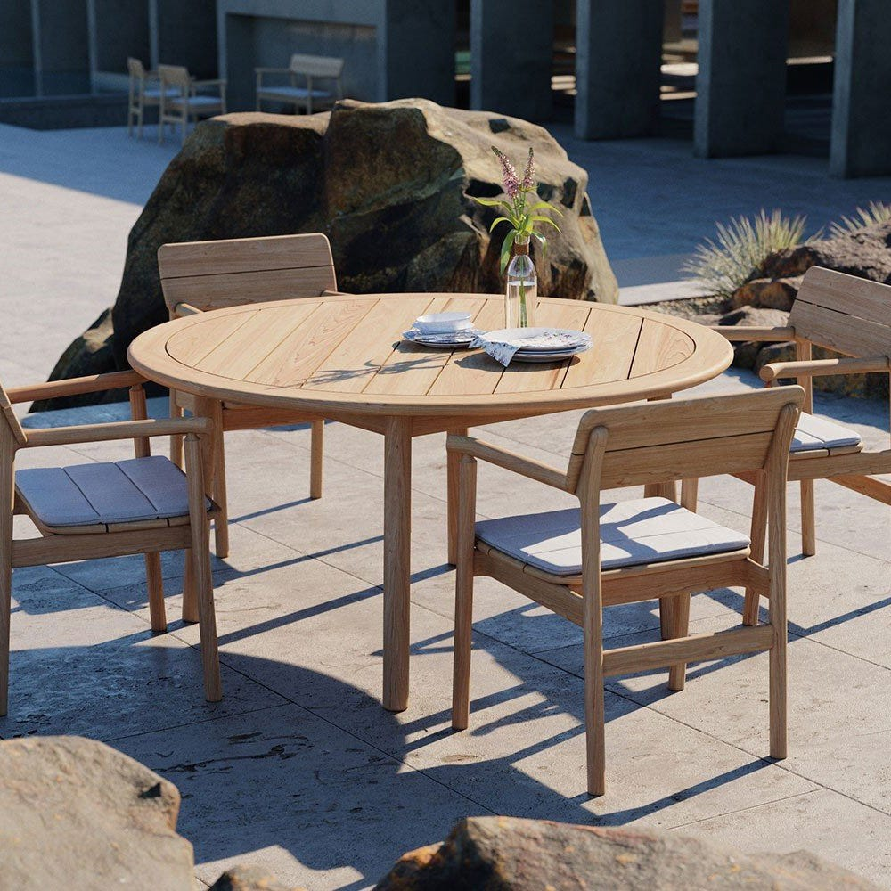 Case Tanso Teak Garden Round Dining Table Heal S