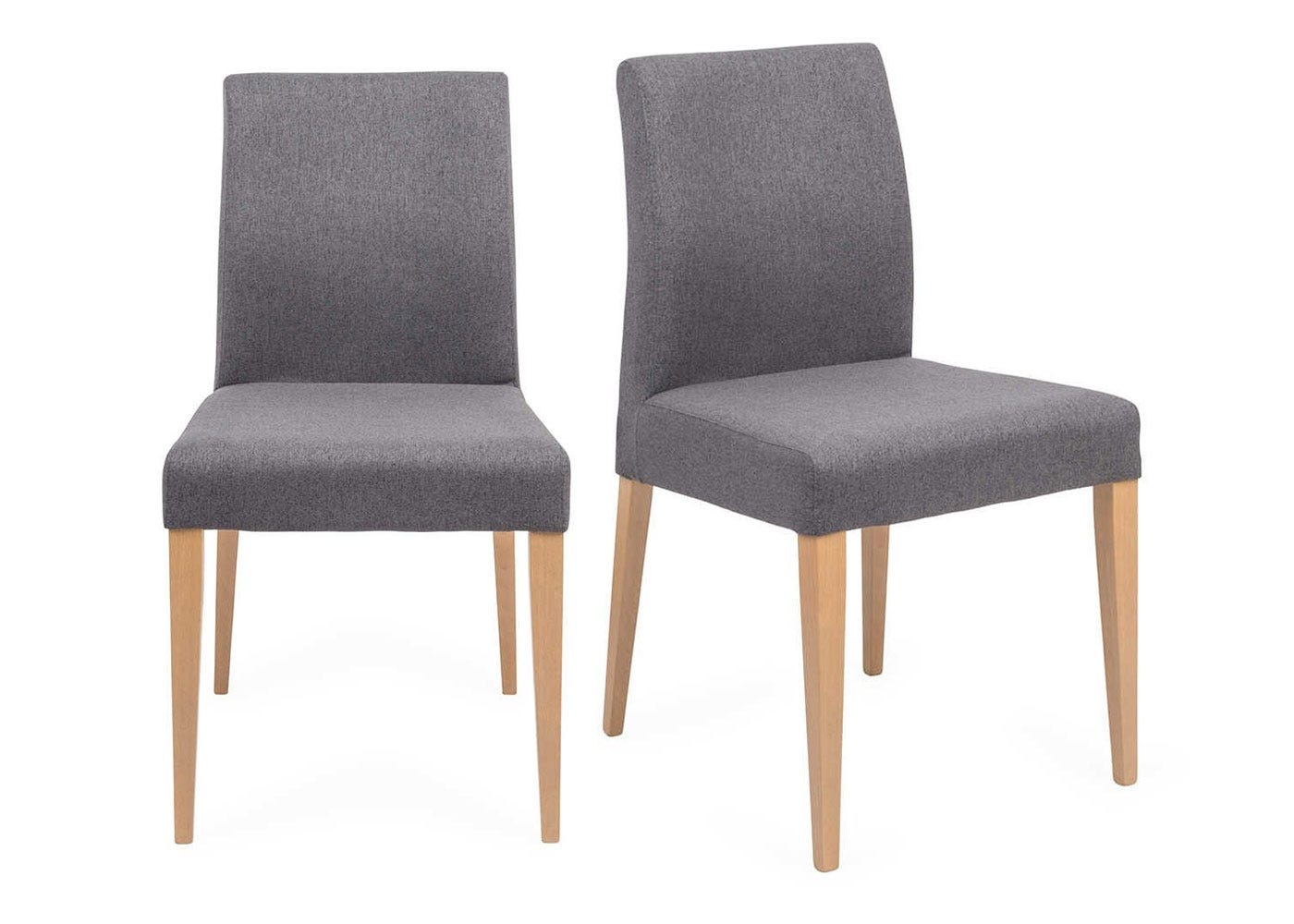 Hudson Pair of Dining Chairs Joshua Charcoal Natural Legs