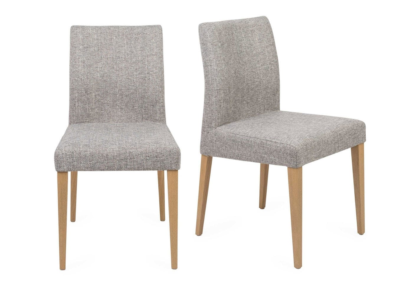 Hudson Pair of Dining Chairs Volcano Zinc Beech Natural Legs