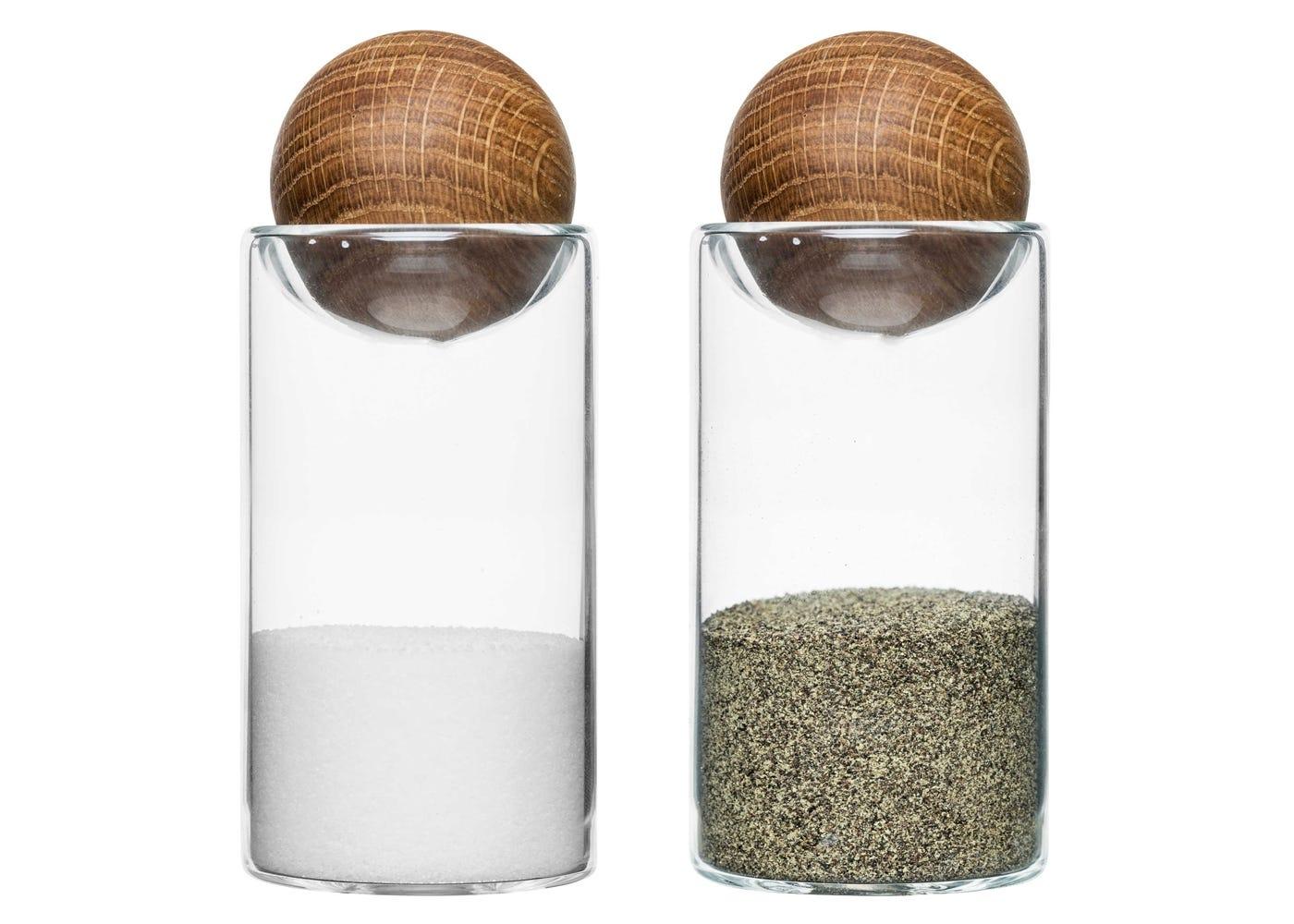 Oak Salt and Pepper Set