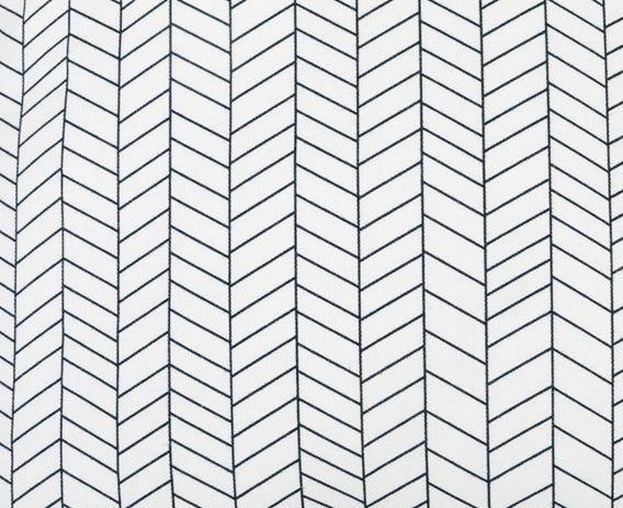 Close up of herringbone print