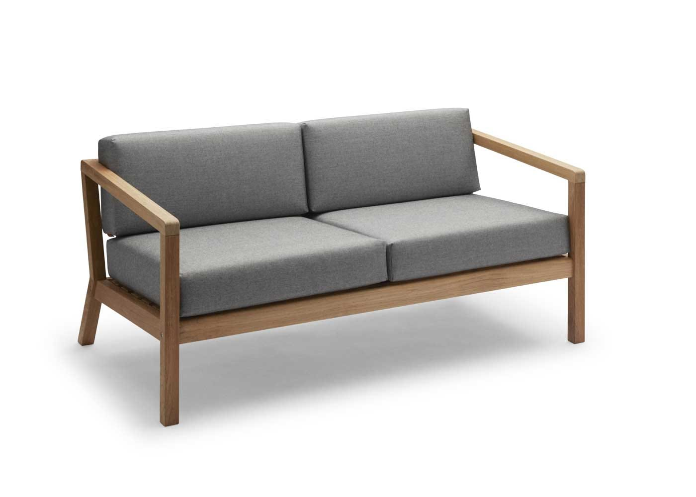 Virkelyst outdoor sofa ash grey