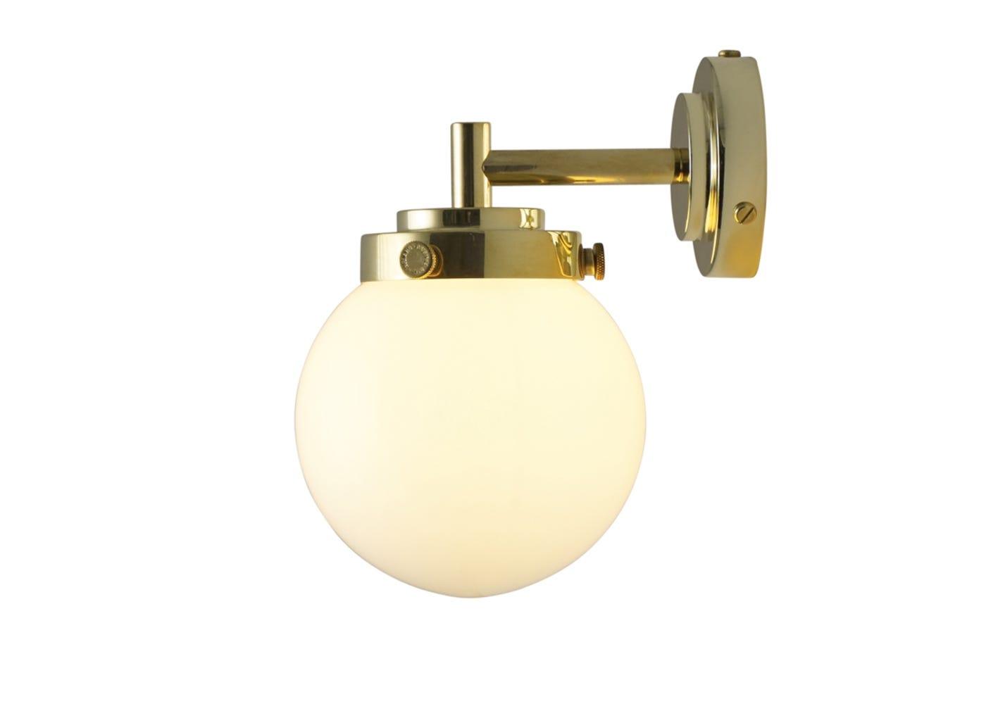 Opal and brass mini globe on