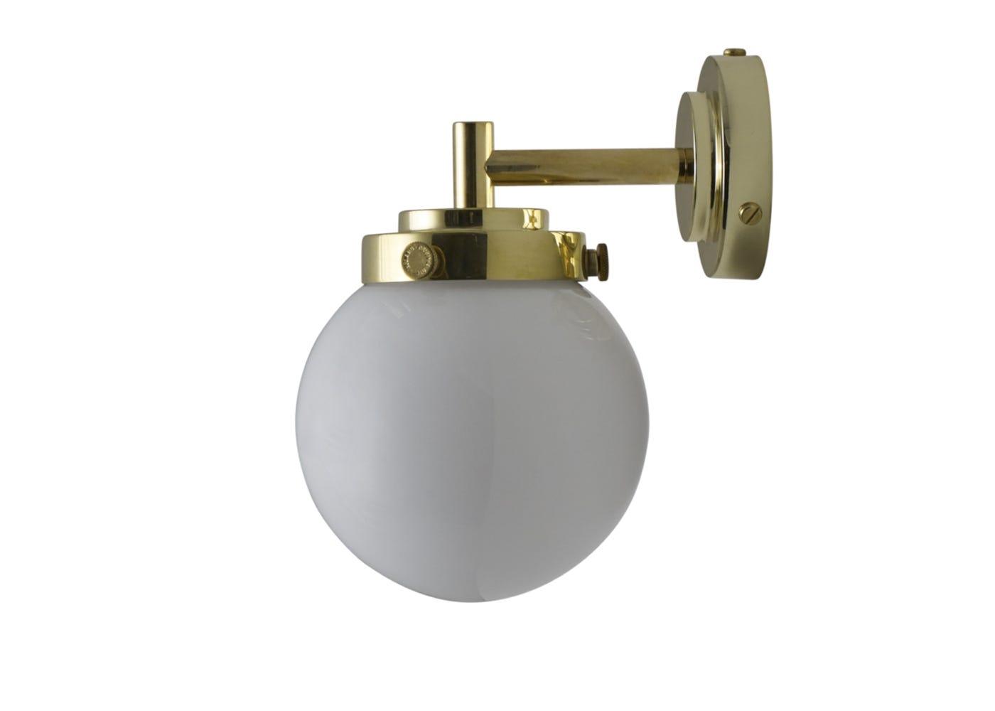 Opal and brass mini globe off