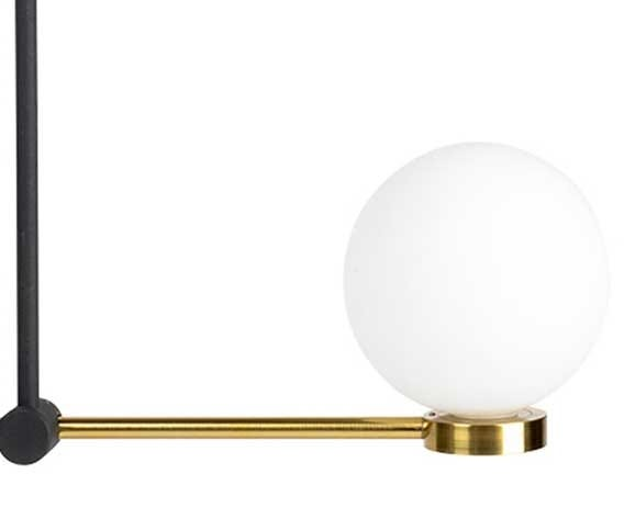 The integrated LED glass globes provide effective mood lighting within the home.