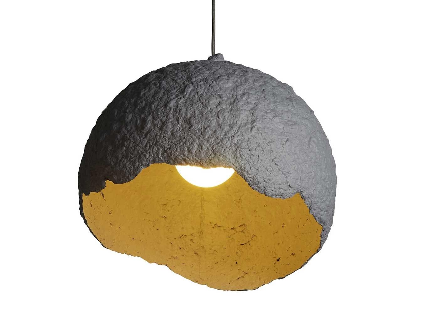 Rustic globe pendant grey interior