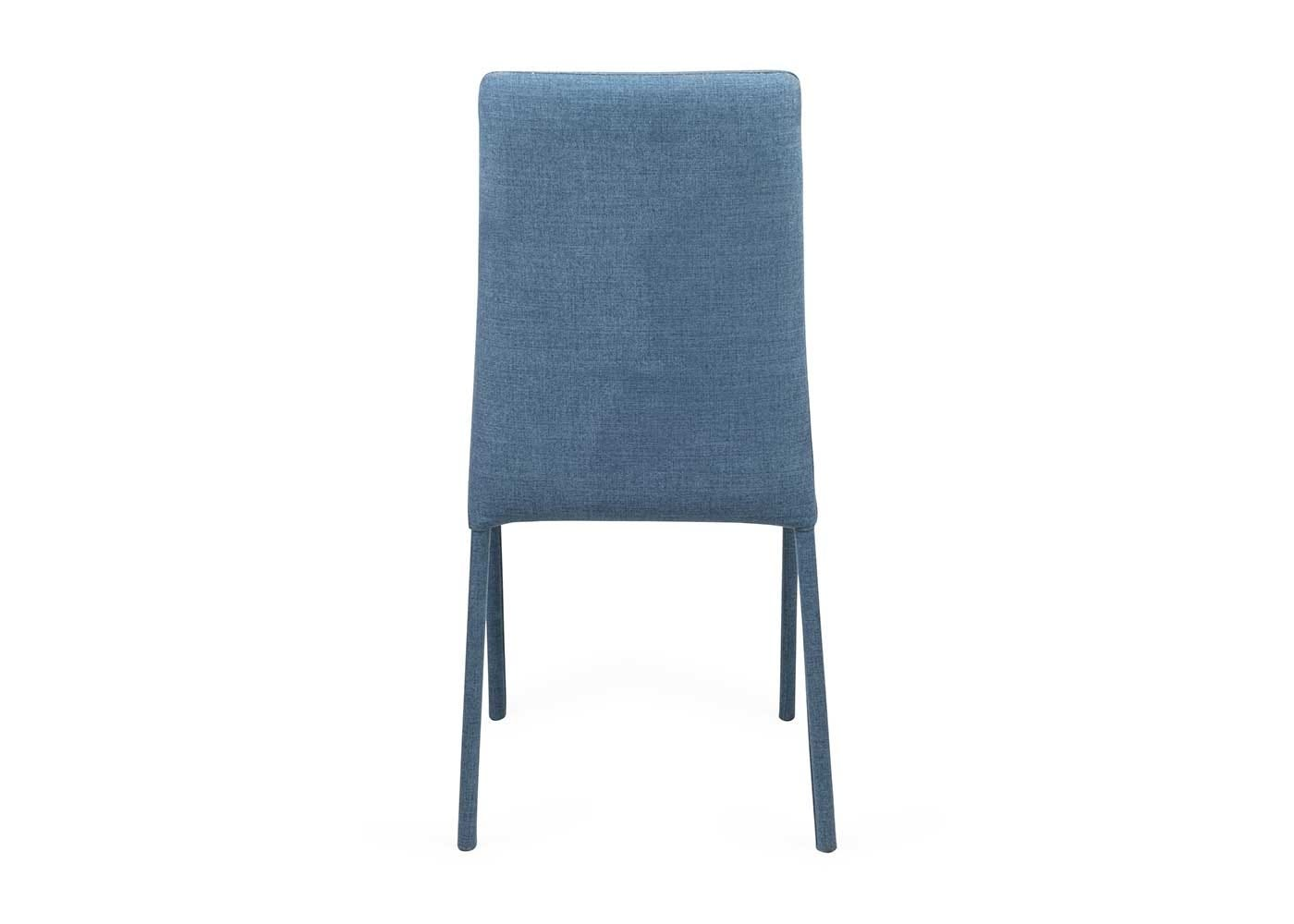 Bronte chair in moda cobalt fabric back view.  sc 1 st  Healu0027s & Bronte Pair of Dining Chairs