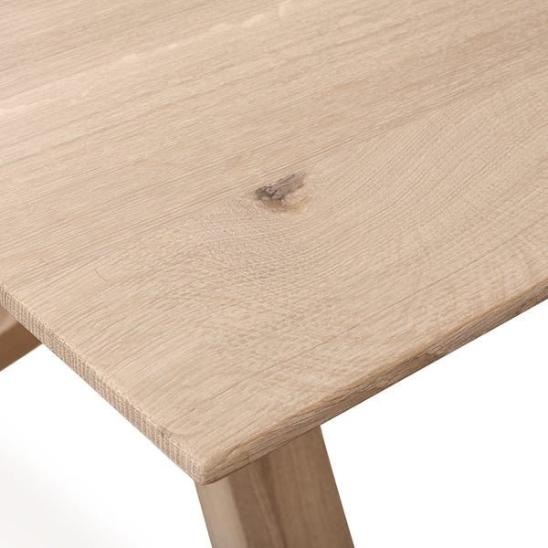 As shown solid oak top, also available in walnut.