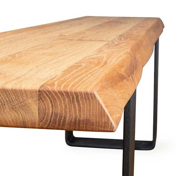 Shown in natural edge profile for a more rustic feel, straight edge also available.