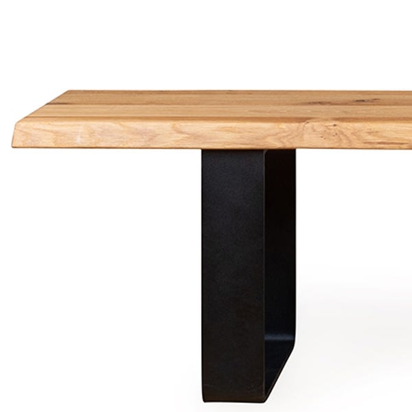 Shown with solid oak top, also available in solid walnut.