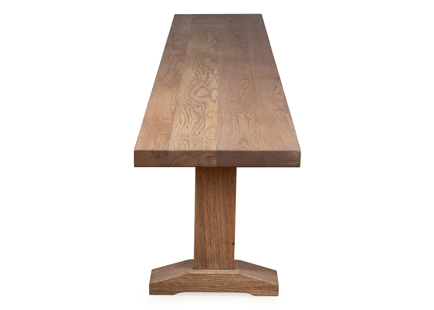 As shown solid oak top, also available with a walnut top