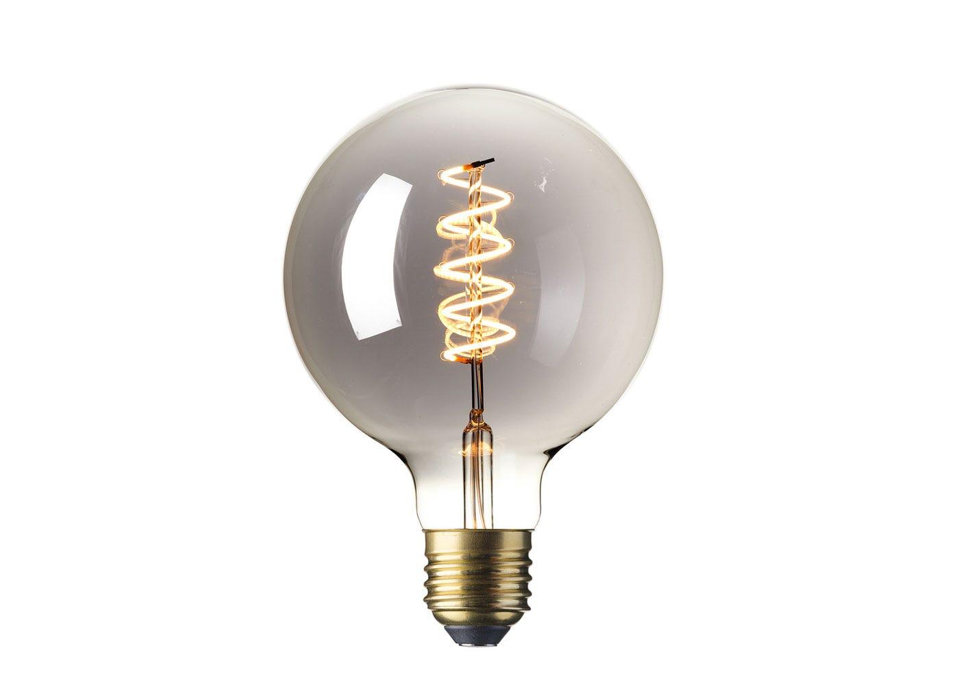 As shown: Globe Bulb Grey 4W E27 LED