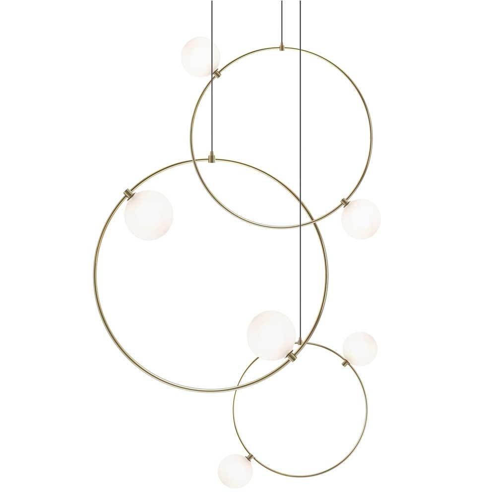 Drops Cluster Pendant Brass