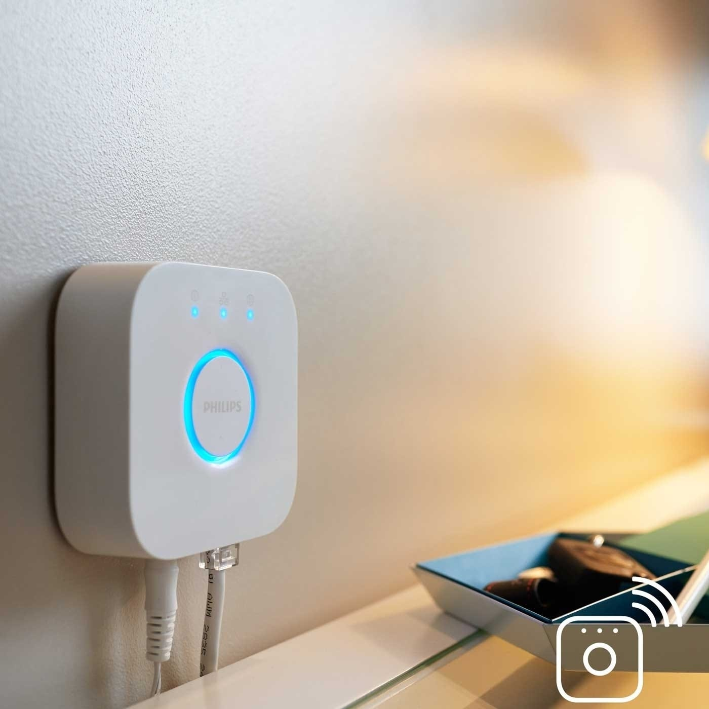 The hue bridge is all you need to set up your Philips Hue system.