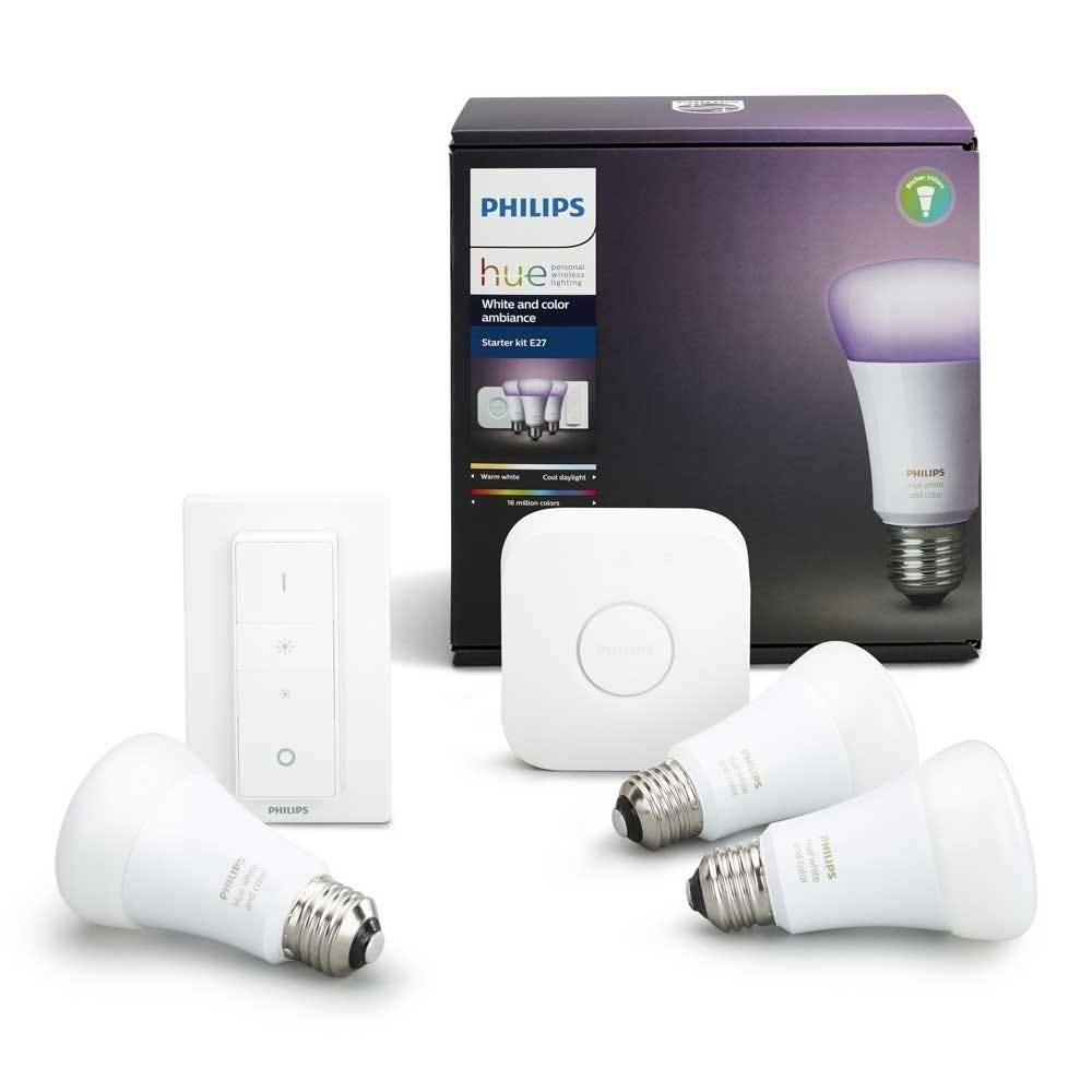 Hue White and Colour Ambiance E27 Starter Pack