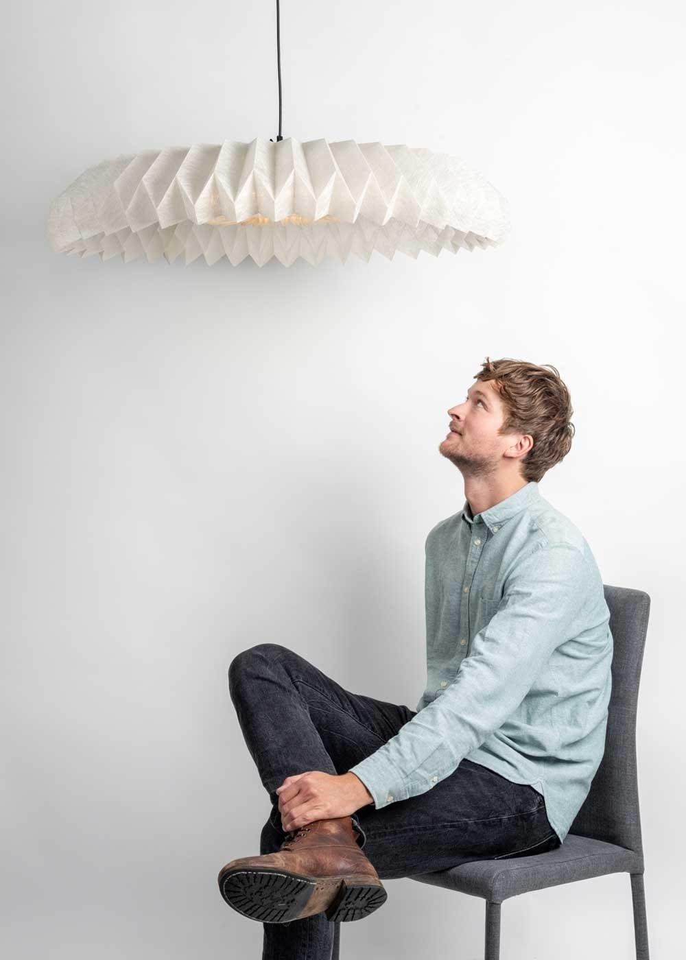 Heal's Discovers finalist Tijn Van Orsouw with the Lightcomposer pendant