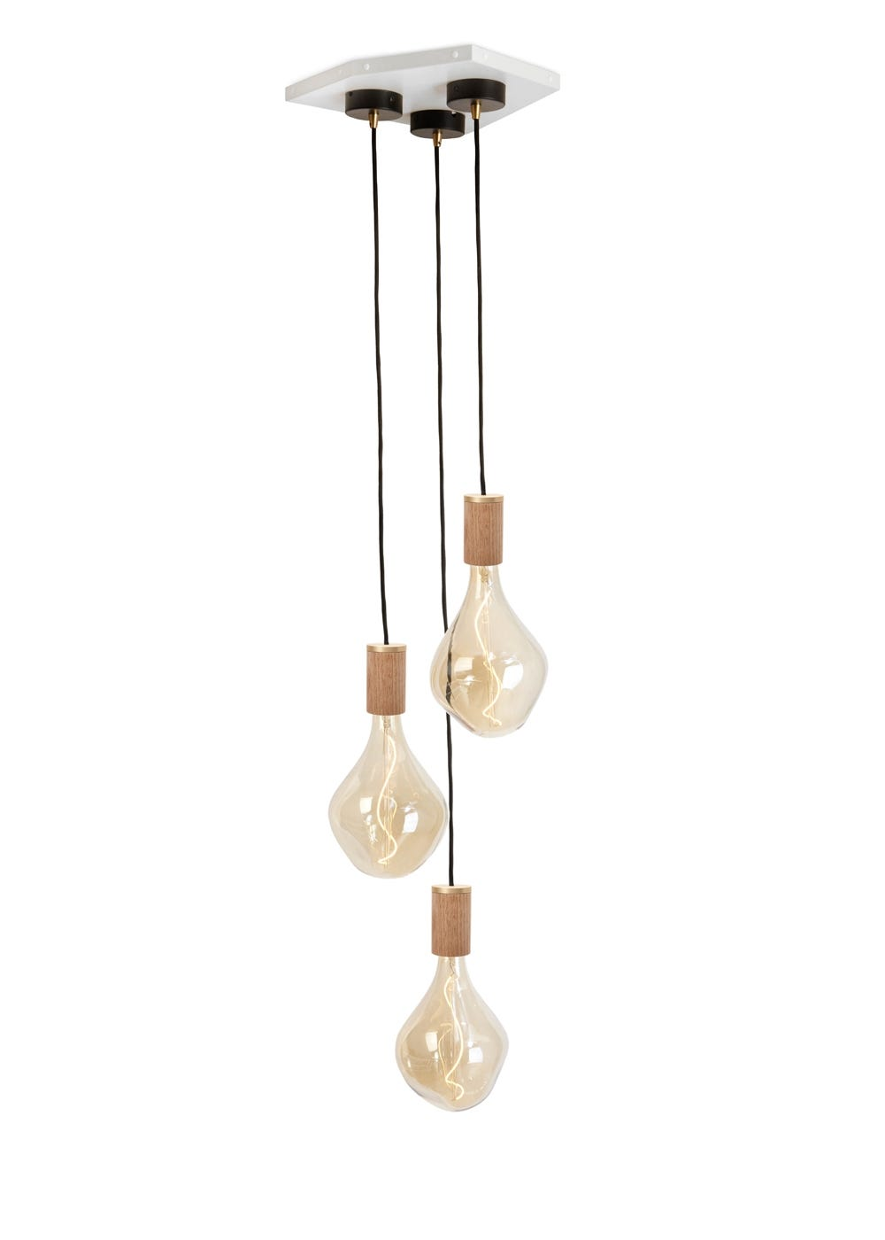 Voronoi II 3 Bulb Cluster Knuckle Pendant