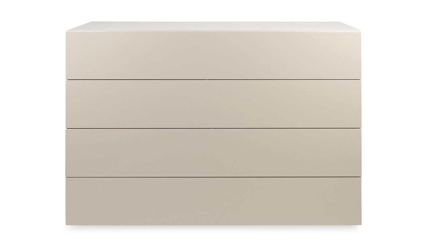 Space 4 drawer wide chest clay high gloss