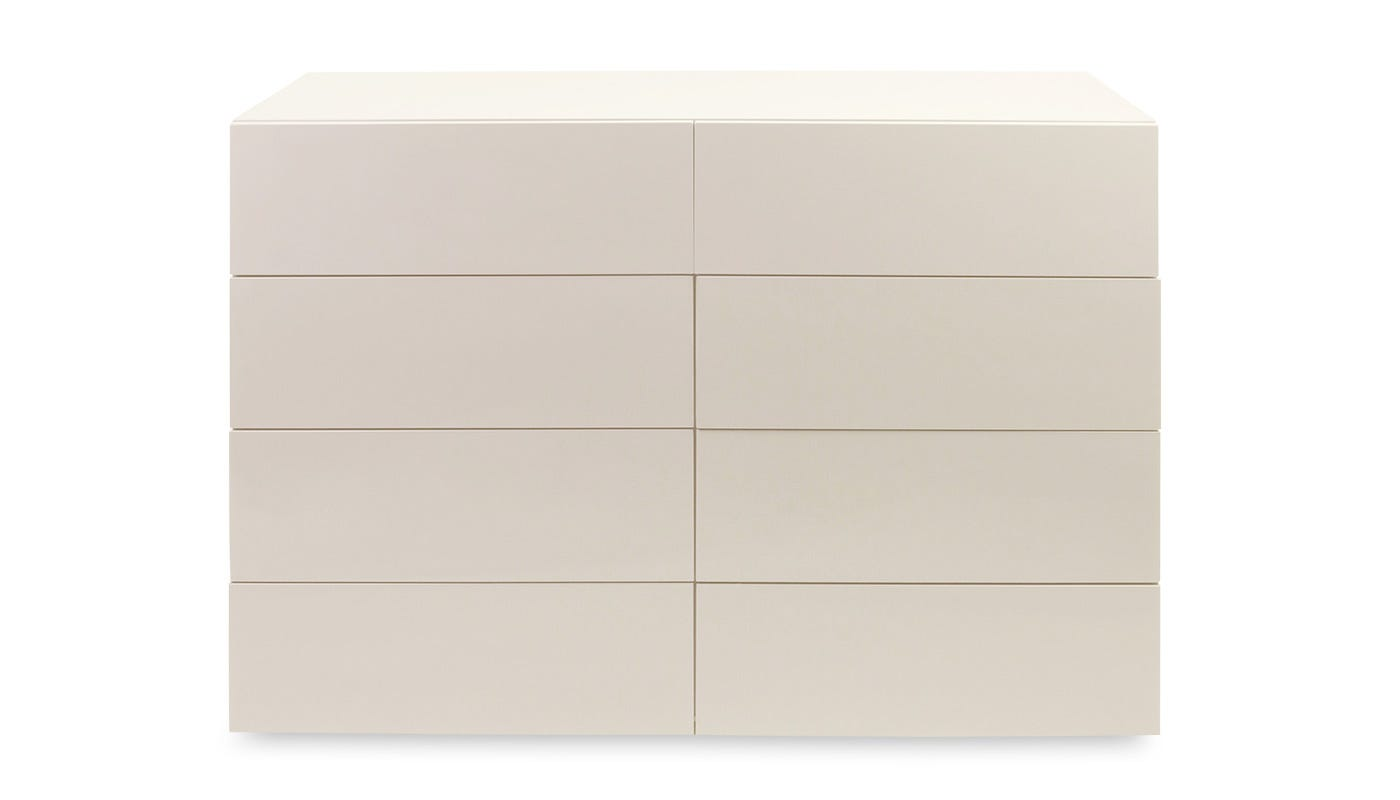 Space 8 drawer wide chest clay high gloss