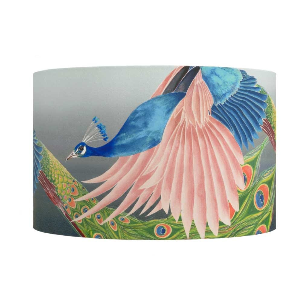 Peacock lampshade Large