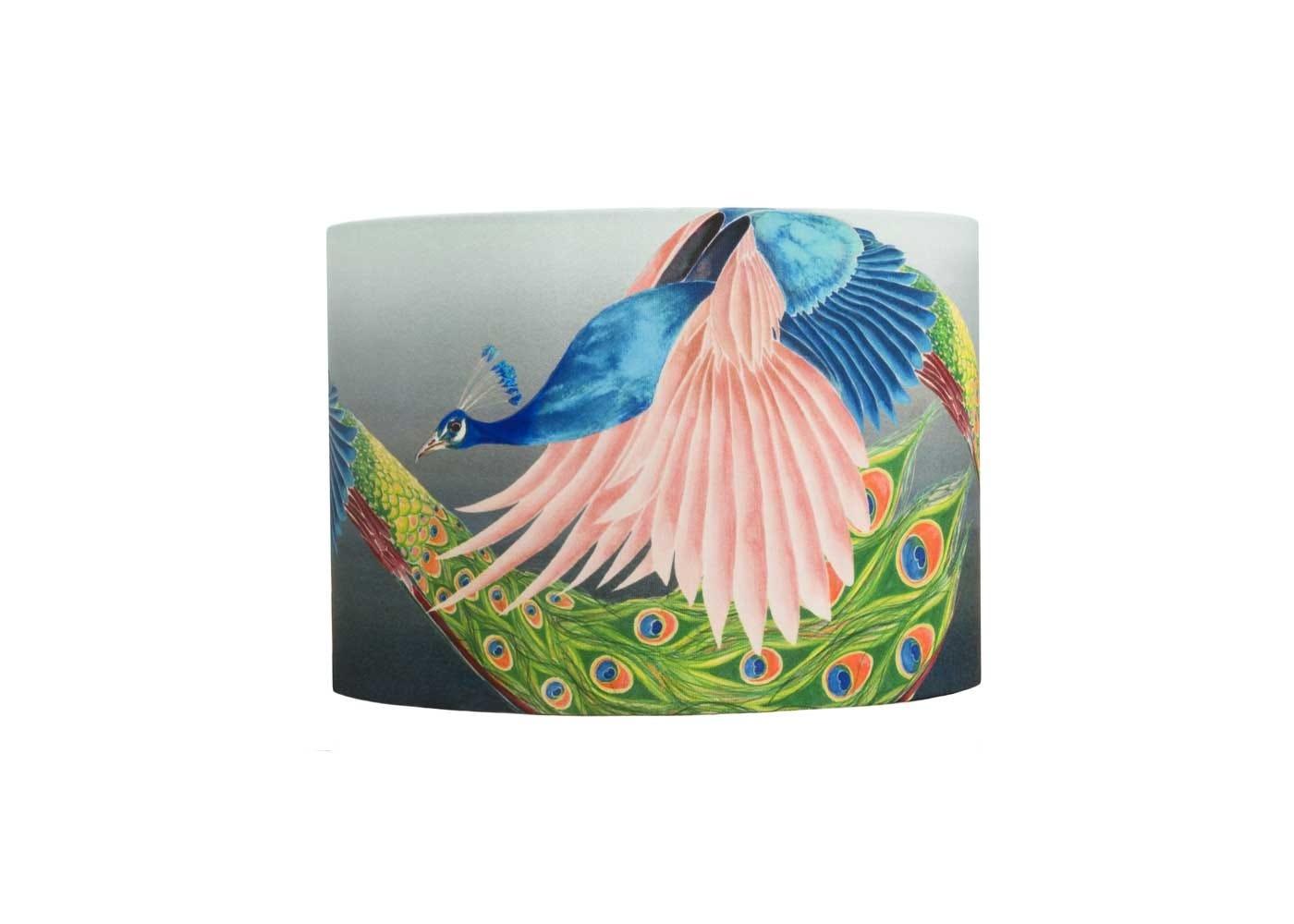 Peacock lampshade medium