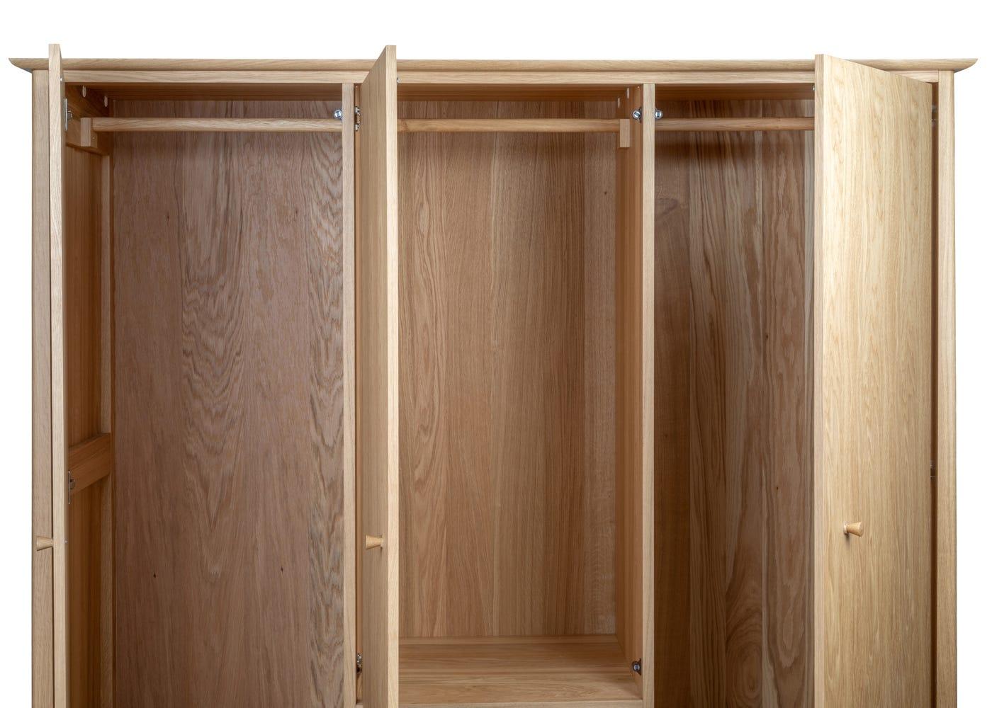 Hanging space inside the Blythe 3 door wardrobe