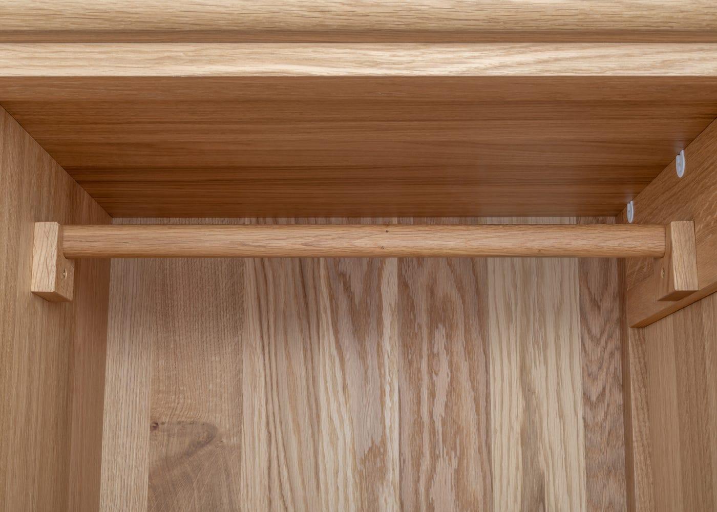 Solid oak rail