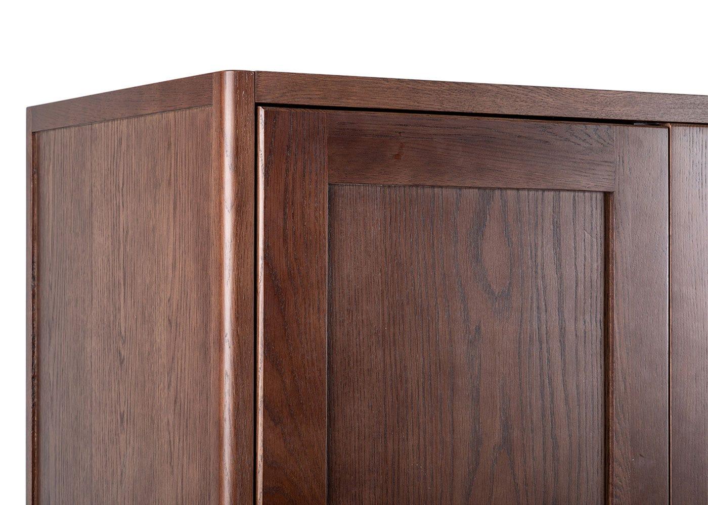 Brunel Double Wardrobe Dark Wood