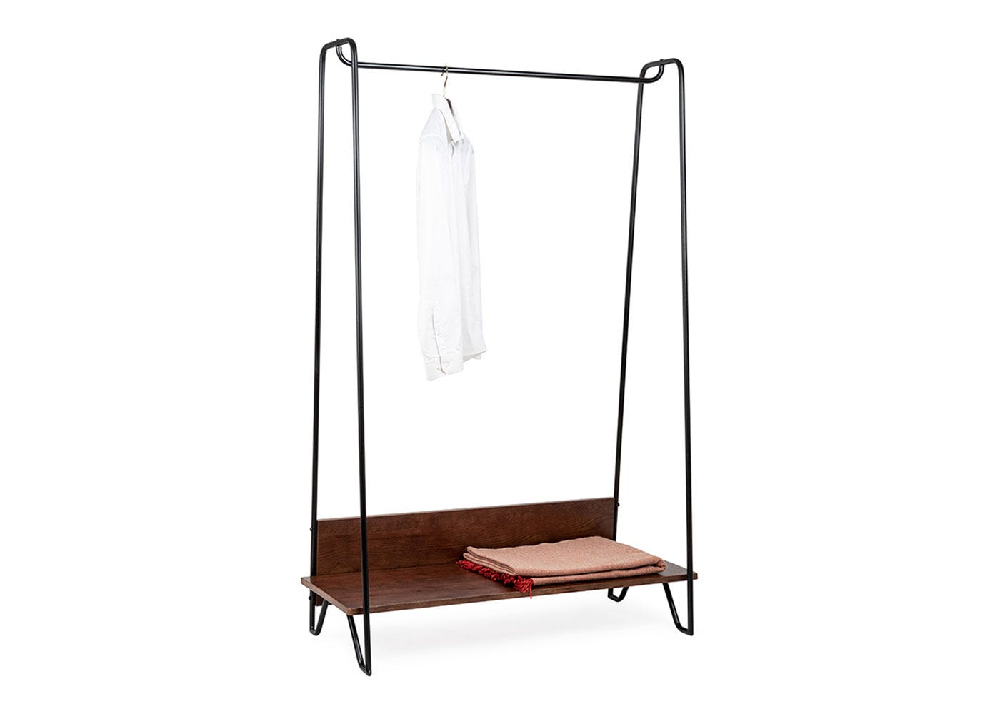 Brunel Hanging Rail Dark Wood Bedroom Furniture Heal S