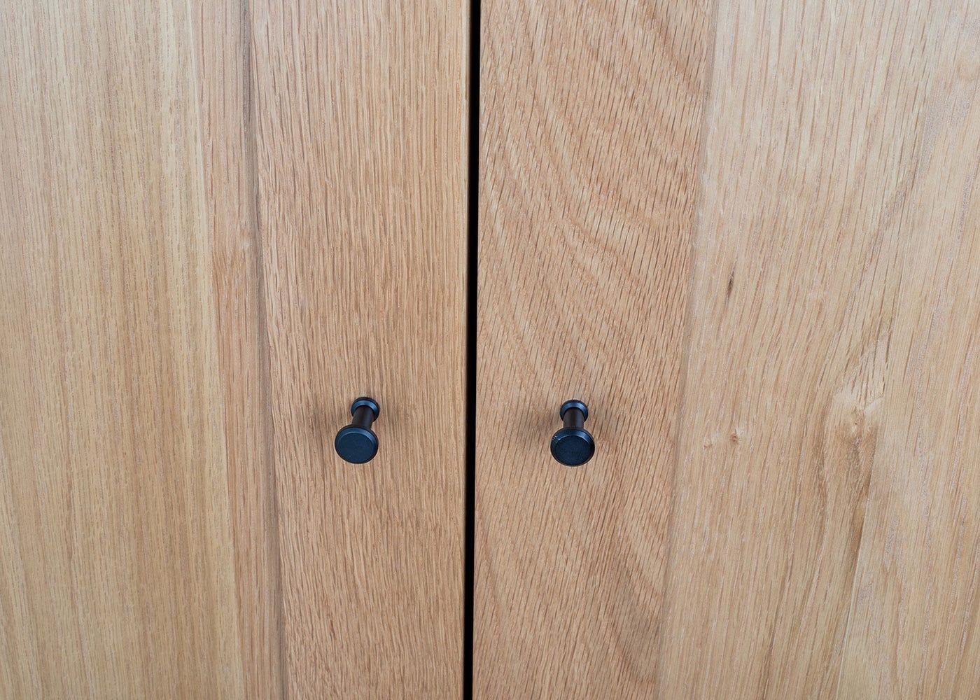 As shown: Brunel Double Wardrobe Oak.