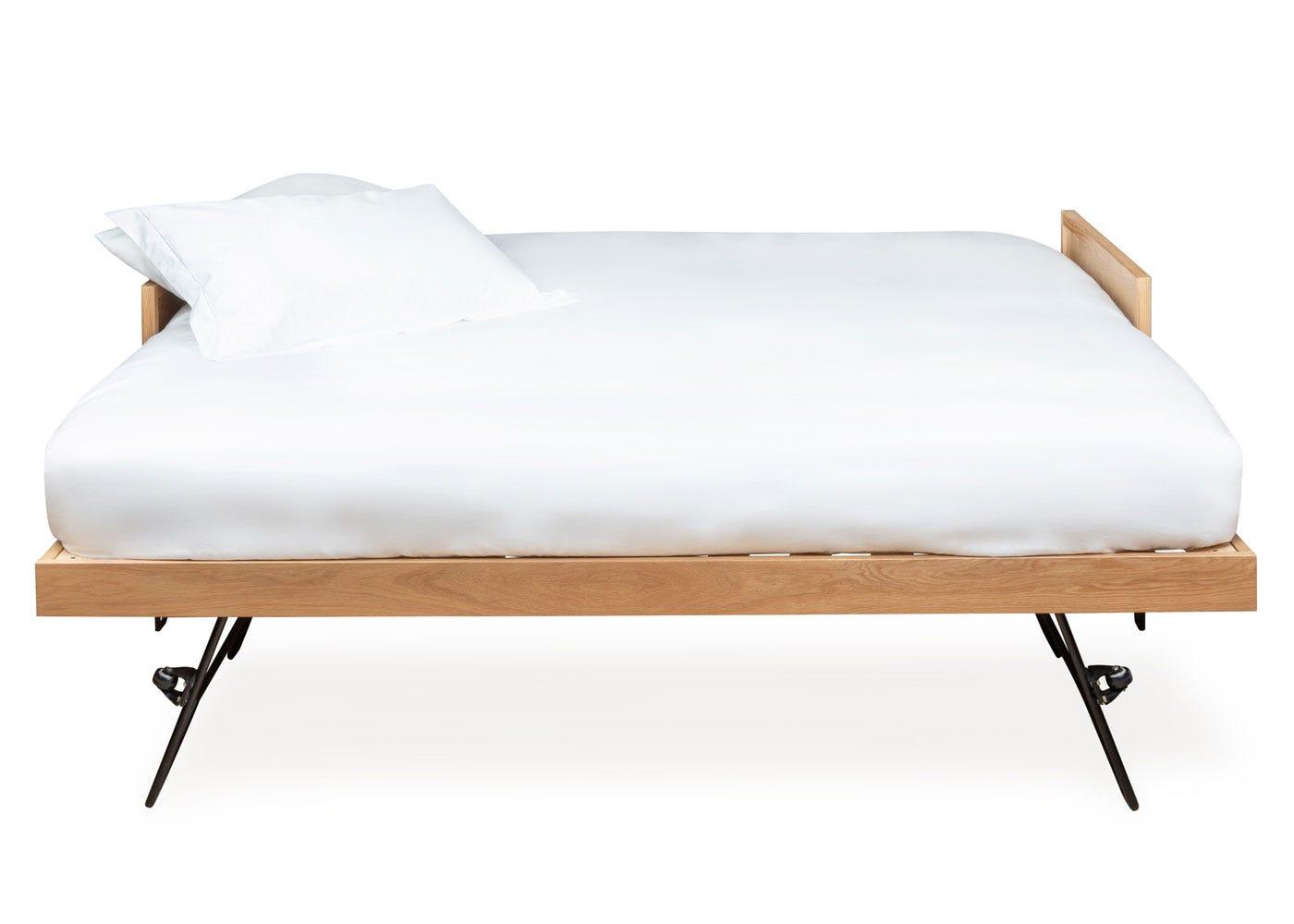 Brunel Guest Bed With Mattresses Oak