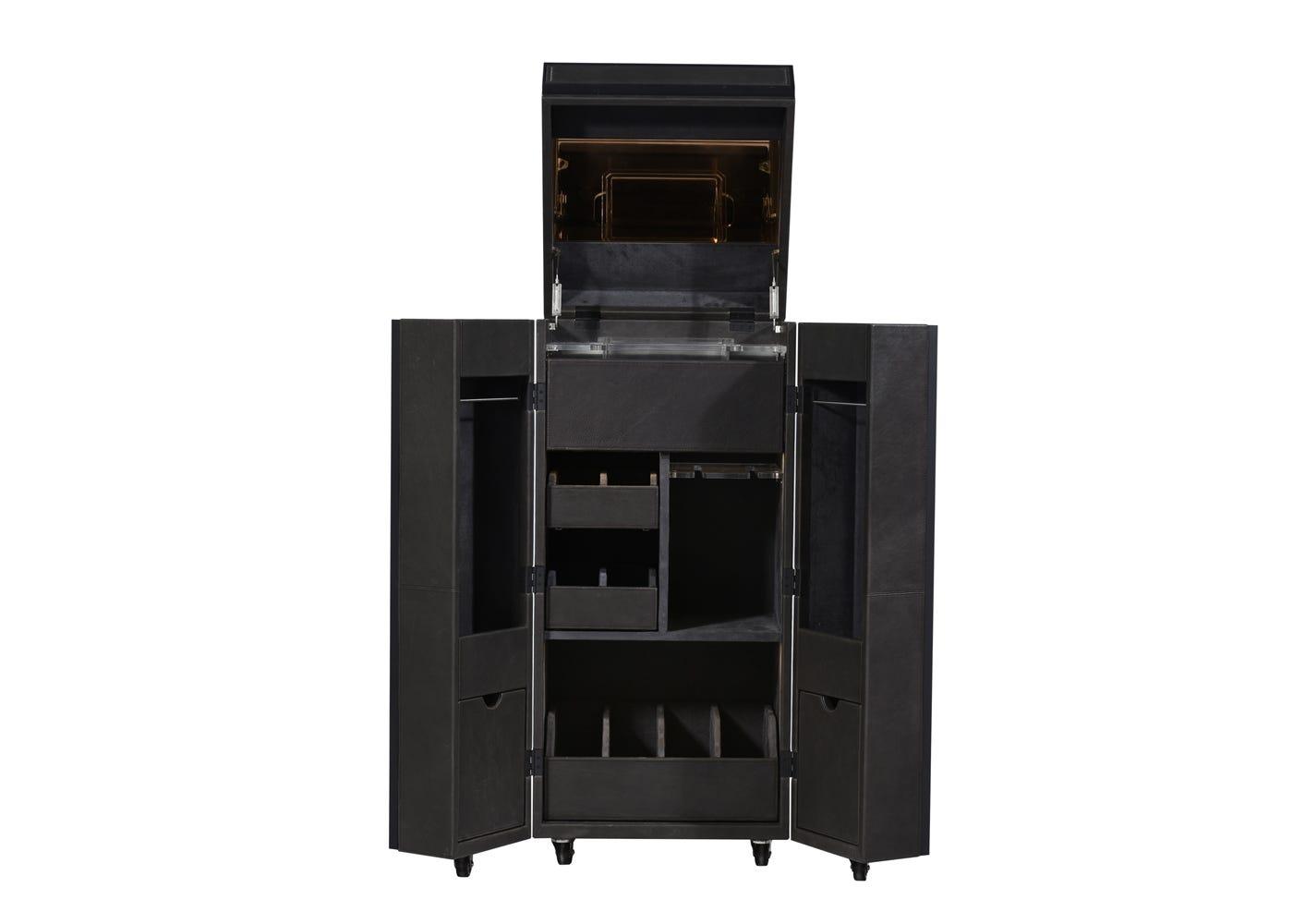 Monaco bar cabinet open