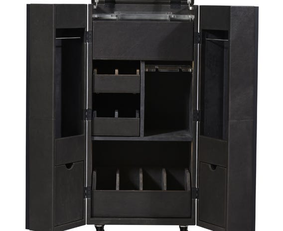 The perfect bar for entertaining - the Monaco bar has numerous storage compartments.