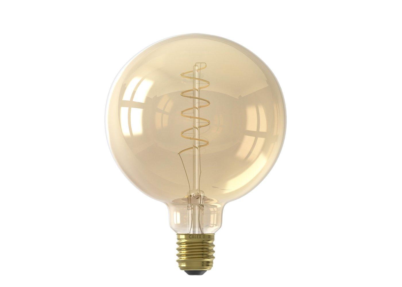 As shown: Globe Spiral Filament Gold Large Bulb 4W E27 LED