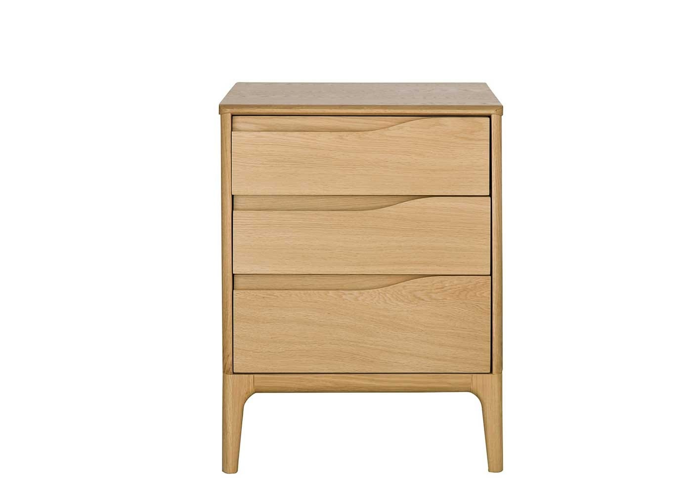 Rimini 3 Drawer Cabinet - Front View