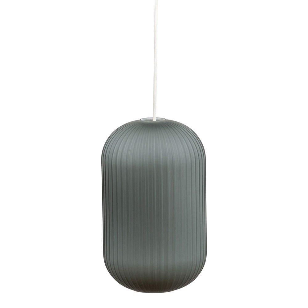 Opal Lantern Pendant Light Tall Grey - Off.